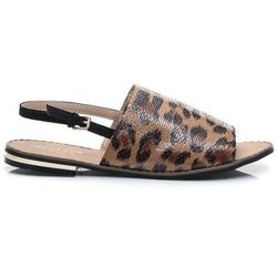 Modne sandałki leopard Julie - motywy zwierzęce