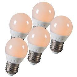 Zestaw 5 żarówek LED kulka E27 3W 250 lumenów ok. 25W