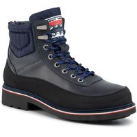 Trzewiki TOMMY HILFIGER - Material Mix Corporate Boot FM0FM02590 Desert Sky DW5