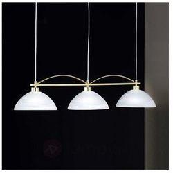 Stylowa lampa wisząca BRAVA 3-punktowa mosiądz