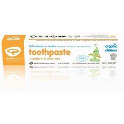 Green People pasta do zębów dla dzieci z wit. C mandarynką i aloesem bez fluoru 50 ml
