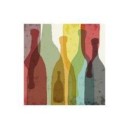 Foto naklejka samoprzylepna 100 x 100 cm - Butelek wina, whisky, tequila, wódka.