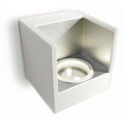 LEDINO - Kinkiet Pojedynczy LED Biały & Srebrny