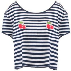 MINKPINK CHERRY KISSES Koszulka do spania navy/white