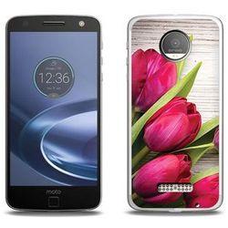 Foto Case - Lenovo Moto Z Force - etui na telefon Foto Case - czerwone tulipany