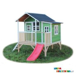 Domek ogrodowy dla dzieci EXIT Loft 350 zielony