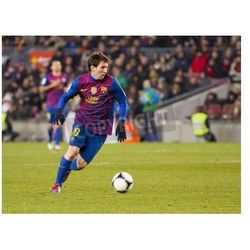 Fototapeta BARCELONA - Lionel Messi w akcji podczas meczu Pucharu Hiszpanii pomiędzy FC Barcelona i Valencia CF, końcowy