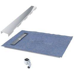 Schedpol podposadzkowa płyta prysznicowa 90x120 cm steel krótki bok 10.011OLKBSL