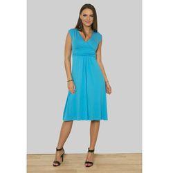 8288 Sukienka turkusowa - Niebieski