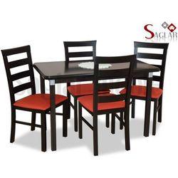 Zestaw HAWELA II 4 krzesła i stół 70x120/150