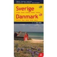 Szwecja Dania mapa 1:1 200 000 Jana Seta (opr. twarda)
