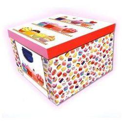Składane, kartonowe pudełko. Mufinki. Marzipan