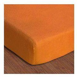 Prześcieradło frotte z gumką 130-140x200 kolor pomarańcz