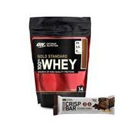 Optimum Nutrition Whey Gold Standard 100% + Protein Crisp Bar 450g + 65g