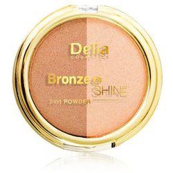 DELIA Bronze&Shine puder brązująco-rozświetlający