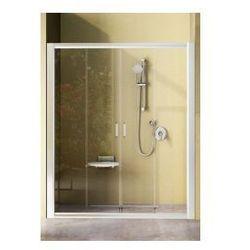 Drzwi prysznicowe NRDP4 Ravak Rapier 120cm, białe + transparent 0ONG0100Z1