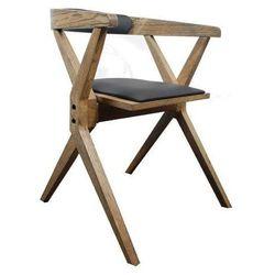 Designerskie krzesło loftowe z litego drewna dębowego składane Loftherapy Bekvamek