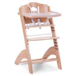 Regulowane krzesło do karmienia z tacką Lambda 2 naturalne drewno