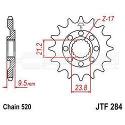 Zębatka przednia JT F284-15, 15Z, rozmiar 520 2201116 Honda CR 500