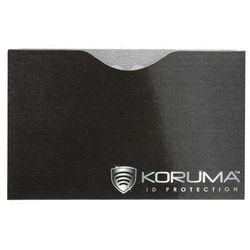 Ekranowane etui chroniące przed nieautoryzowanym odczytem kart zbliżeniowych - Poziome etui antykradzieżowe na karty zbliżeniowe (czarne, srebrne logo)
