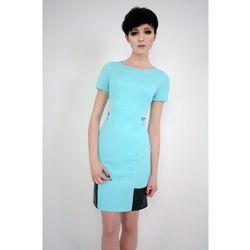 Sukienka z krótkim rękawem Violette turkusowa