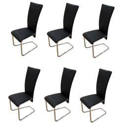 vidaXL Krzesła, czarne x 6 Darmowa wysyłka i zwroty
