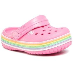 Klapki CROCS Crocband Rainbow Glitter Clg K 206151 Pink Lemonade