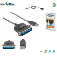 Kabel adapter Manhattan USB/C36 1,8m, czarny