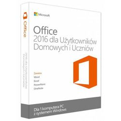 Microsoft Office 2016 PL dla Użytkowników Domowych i Uczniów 79G-04328