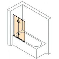 Parawan nawannowy Huppe Design Pure - 2-częściowy lewy 120 cm, profil srebrny mat, szkło przeźroczyste 8E2302.087.321