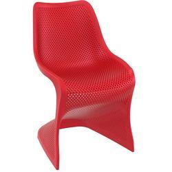 Nowoczesne krzesło BLOOM czerwone