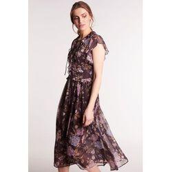 b508eea0e6 suknie sukienki sukienka maxi w stylu boho granat paisley (od ...