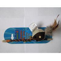 YARRO Zabawka dla kota: piłeczka z kocimiętką i piórkiem