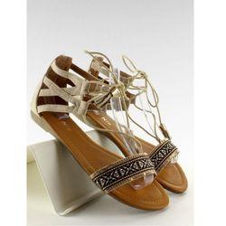 Sandałki z indiańskim wzorkiem SK68 Beige