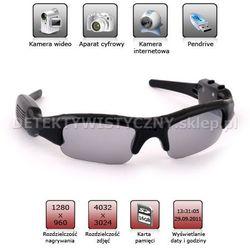 Okulary szpiegowskie z kamerą HD 32A aparat pendrive do 16GB