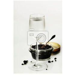 Obraz Czarny kawior i wódka