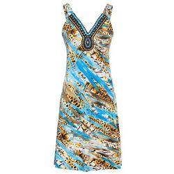 605bb722ad suknie sukienki odeta turkusowa w kwiaty (od Sukienka letnia bonprix ...