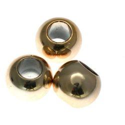 Koraliki Przekładki Akrylowe Kula Platerowane Kc Gold Złoty 16mm 4szt