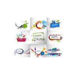 Foto naklejka samoprzylepna 100 x 100 cm - Zestaw banerów reklamowych szablonu.