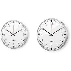 Zack - Zegar wiszący biały 35 cm Vedere - stal nierdzewna matowa