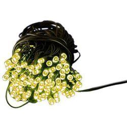 Łańcuch świetlny ogrodowy solarny Garth - 200 diod LED ciepło-biała