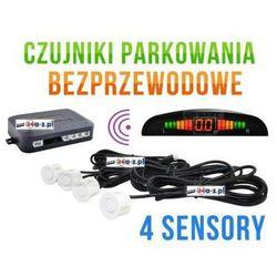 Bezprzewodowe Czujniki Parkowania (4-sensory + sygnalizator) - BIAŁE.