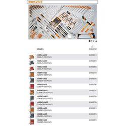 WÓZEK NARZĘDZIOWY 2400/C24S7 Z ZESTAWEM NARZĘDZI, 132 ELEMENTY, MODEL 2400S7-R/VG3, CZERWONY