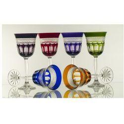 Kieliszki do wina malowane 6 sztuk - 4956