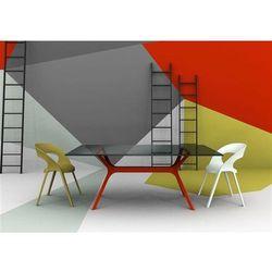Stół Vela 120x80 czerwona podstawa
