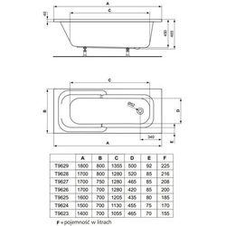Ideal Standard Playa  180 x 80 (T962901)