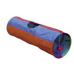 Zabawka dla zwierząt Nobby Rainbow szeleszczący tunel 25x86,5cm Purpurowa/Pomarańczowa