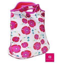QUARANTA SETTIMANE 40 Settimane - Podręczna torba piknikowa z neoprenu - Różowa w kwiatki