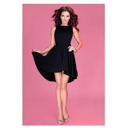 Lacosta - Ekskluzywna sukienka z dłuższym tyłem - CZARNA 33-4