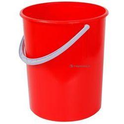 Okrągły pojemnik plastikowy bez pokrywy 20l (Kolor: czerwony)